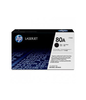 Cartouche de toner noir LaserJet HP 80A (CF280A)