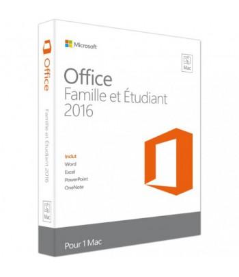 Microsoft Office Famille et Étudiant 2016 pour Mac (GZA-00929)