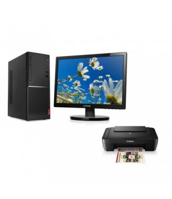 "Ordinateur de bureau Lenovo V520 Tour ""i3"" avec Ecran LI2054 19.5"" et Imprimante MG3040"