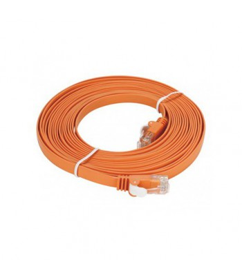 Câble droit RJ-45 D-LINK Cat6 UTP 32 AWG PVC Flat - 5 mètre Orange (NCB-C6UORGF1-5)