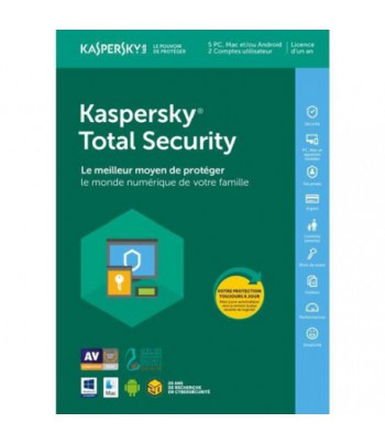 Kaspersky Total Security 2018 Multi-Devices - 5 postes