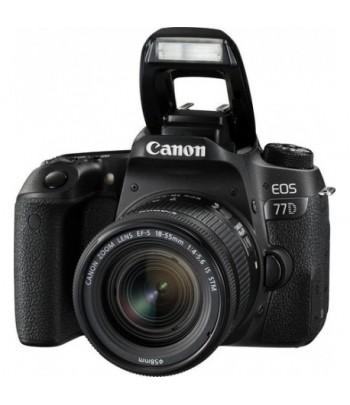 Appareil photo Reflex Canon EOS 77D + Objectif Canon 18-55mm IS STM