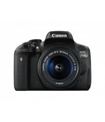 Reflex Canon EOS 750D + Objectif Canon EF-S 18-55mm IS STM (0592C005BA)